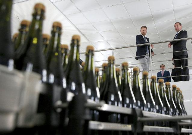 Dmitri Medvedev à l'isine vinicole Abrau-Durso à Novorossiïsk