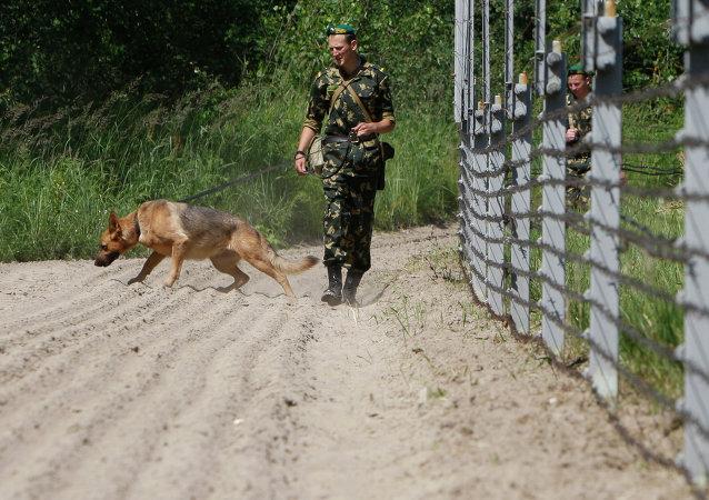 Gardes-frontière biélorusses. Image d'illustration