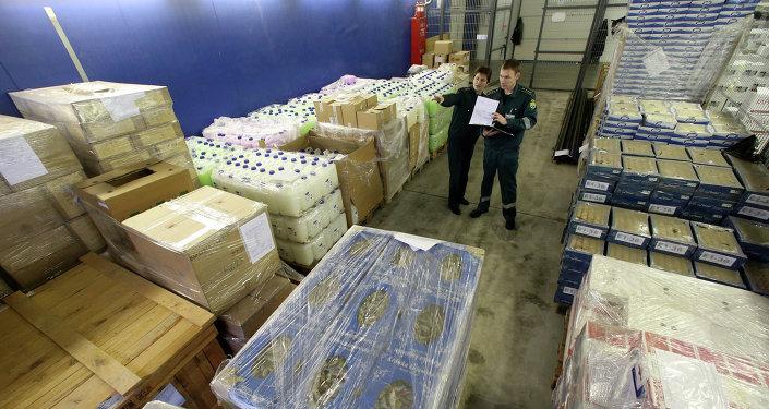 Employés d'une douane russe