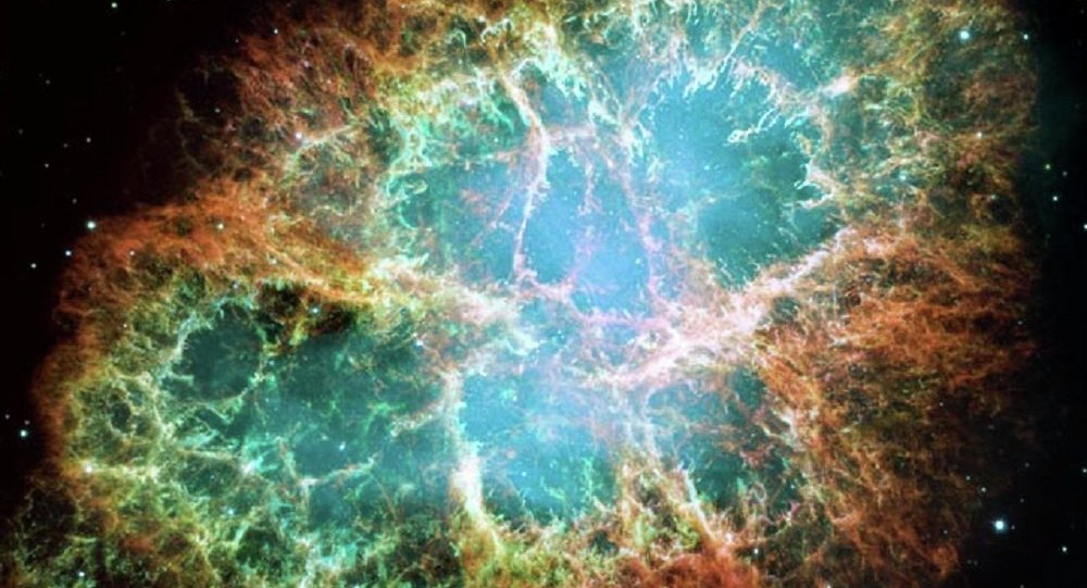 Une supernova Crab Nebula
