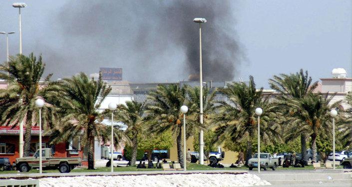 Arabie saoudite: explosion. Image d'illustration