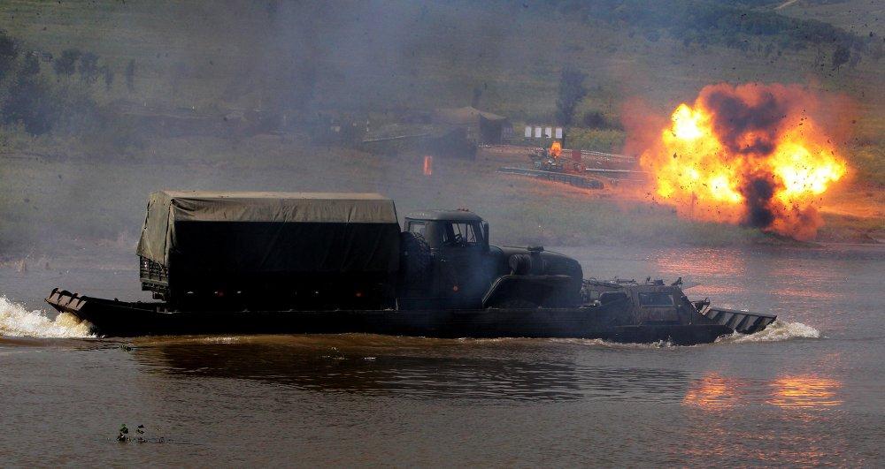 Exercices tactiques dans l'Extrême-Orient russe