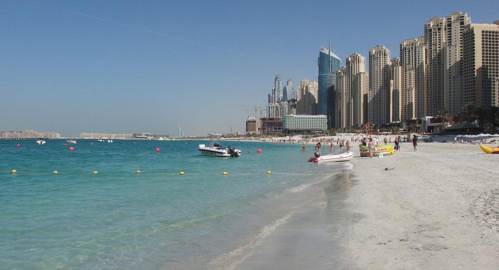 Une plage à Dubaï