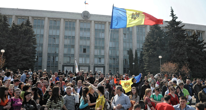 Moldavie. Devant le parlement (archives)