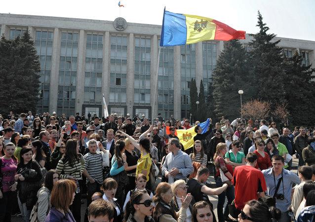 Moldavie. Devant le parlement (archives)