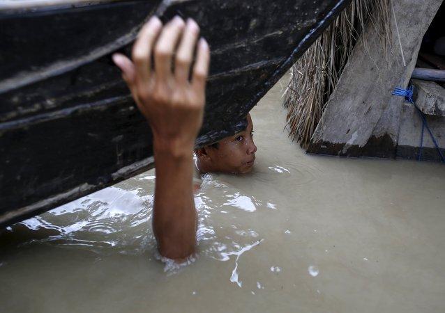 Inondation en Birmanie