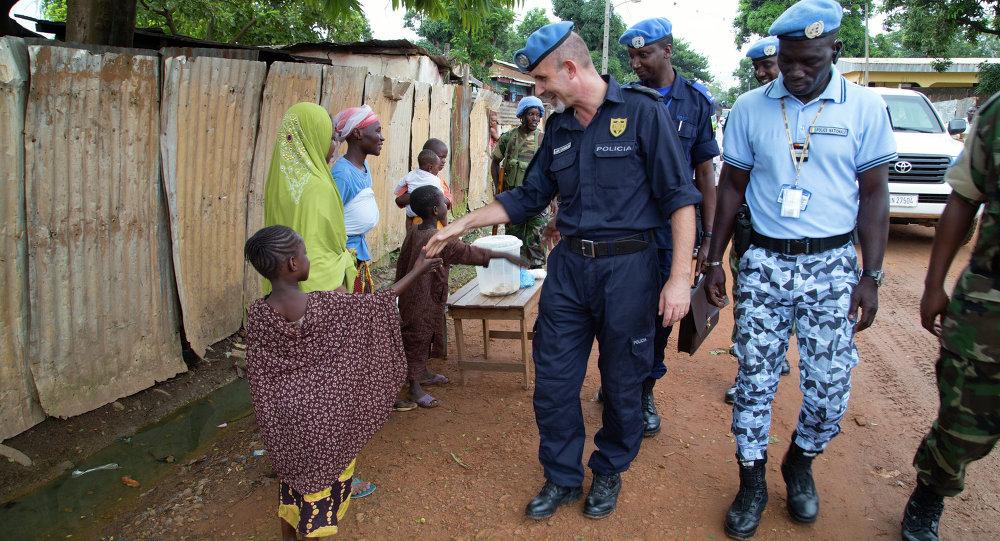 Les casques bleus à Bangui, la capitale de la république centrafricaine