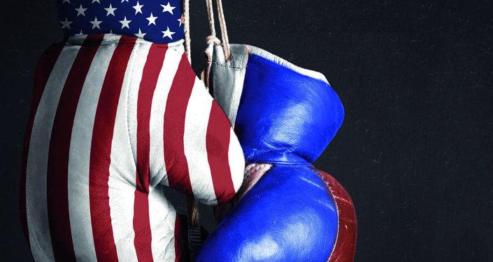 Les USA contre la Russie. Image d'illustration