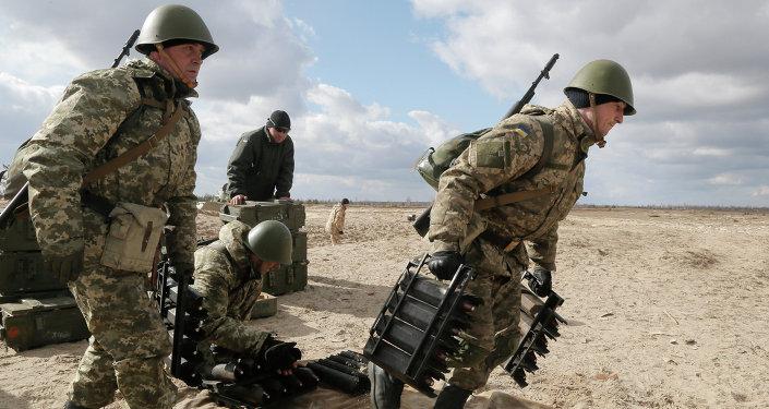 Soldats de l'armée ukrainienne
