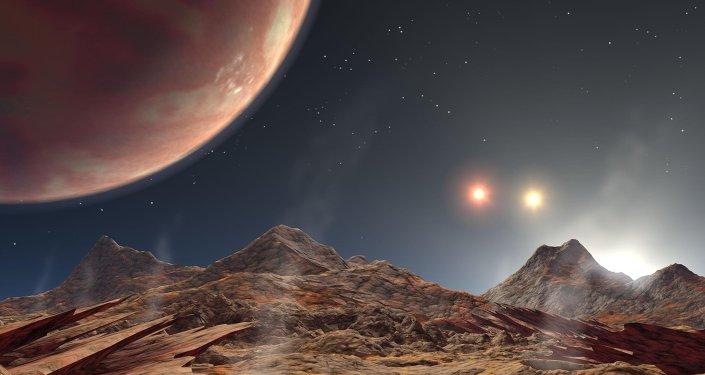 Regard de l'artiste sur la planète HD 189733 b
