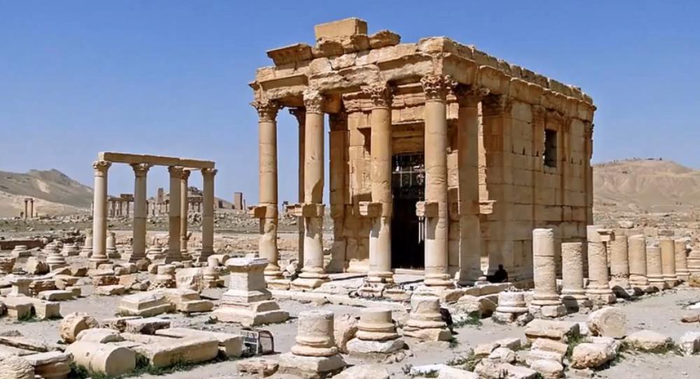Temple de Baalshamin dans la cité antique de Palmyre