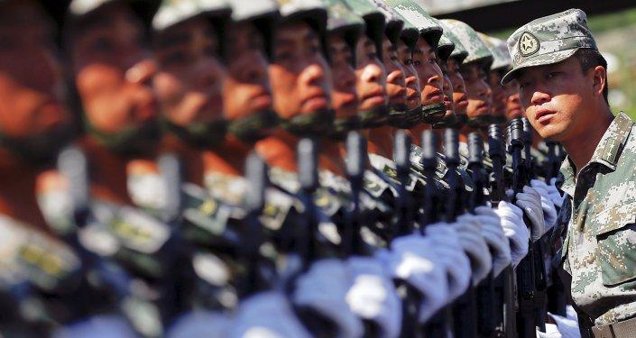 La répétition d'un défilé militaire à Pékin