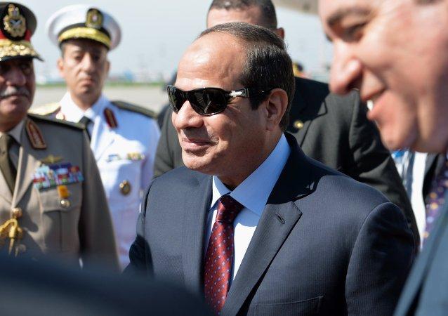 Abdel Fattah al-Sissi à Moscou. Archive photo