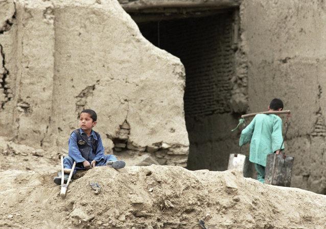 Un handicapé dans une rue de Kaboul
