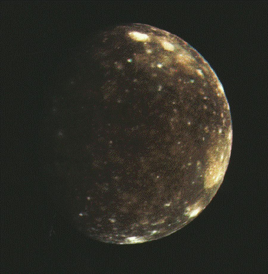 Callisto, une lune de Jupiter