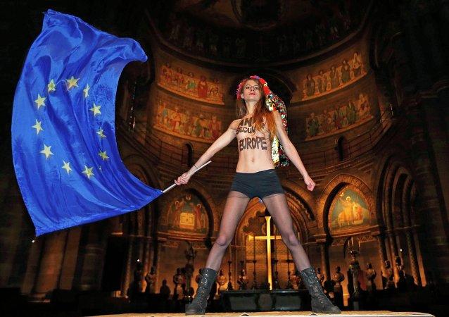 Une militante du mouvement Femen