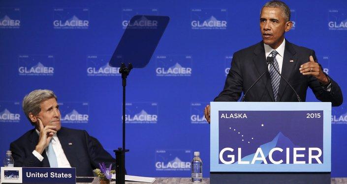 Barack Obama, en visite en Alaska