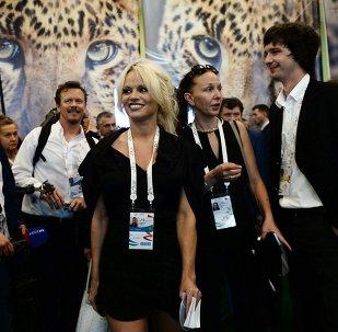 Pamela Anderson à Vladivostok
