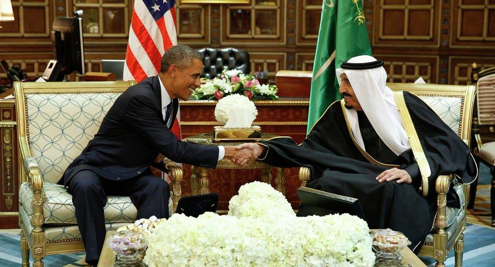 Barack Obama et le roi Salmane d'Arabie saoudite