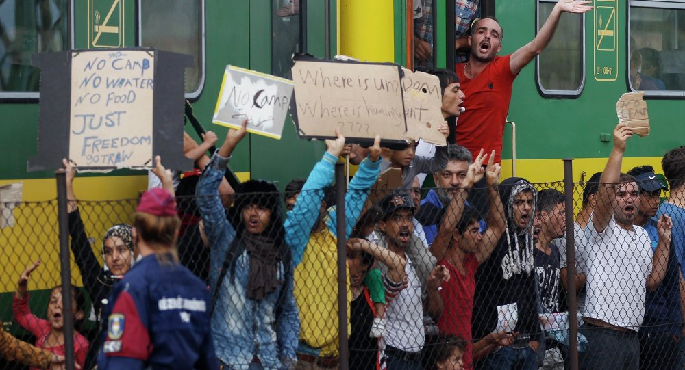 Migrants, Hongrie, Sept. 4, 2015.