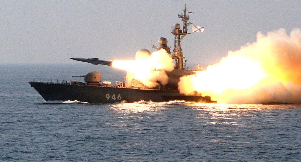 Tir d'un missile antinavire supersonique russe Moskit (archives)