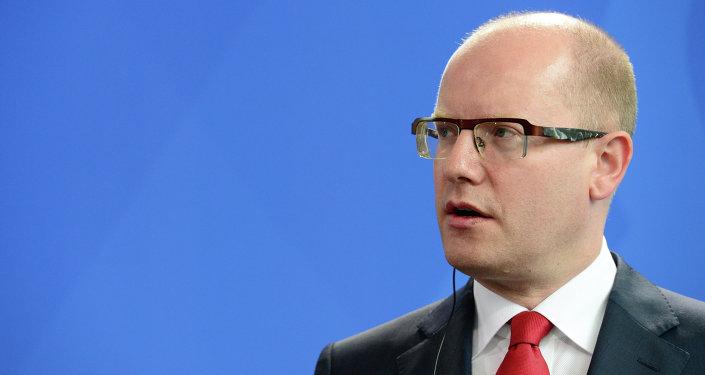 Le premier ministre tchèque Bohuslav Sobotka
