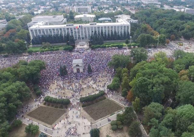 Moldavie: une manifestation massive à Chisinau