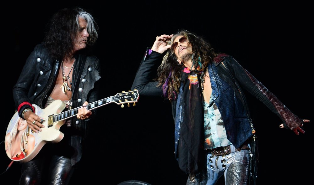 La performance du groupe de rock légendaire Aerosmith à Moscou