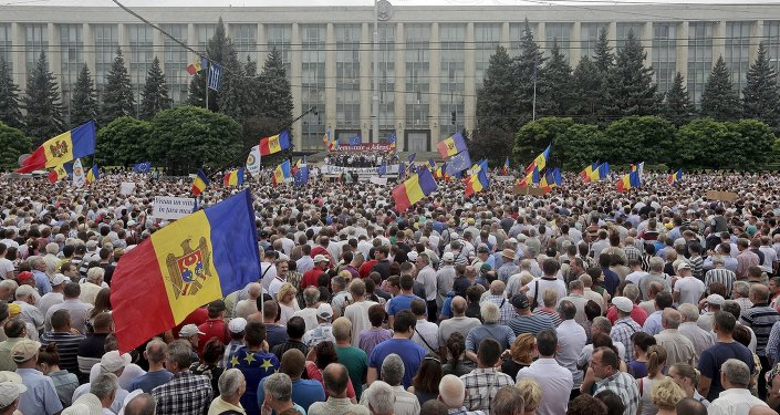 Protestations en Moldavie