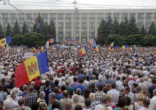 Protestations en Moldavie