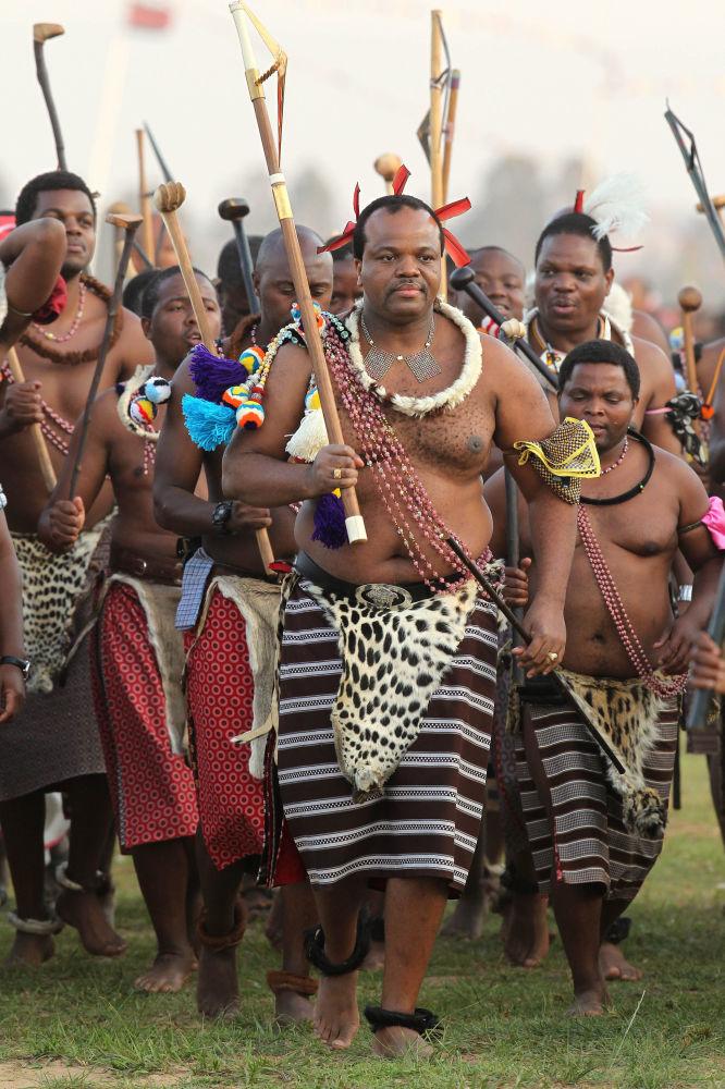 Le roi Mswati III du Swaziland