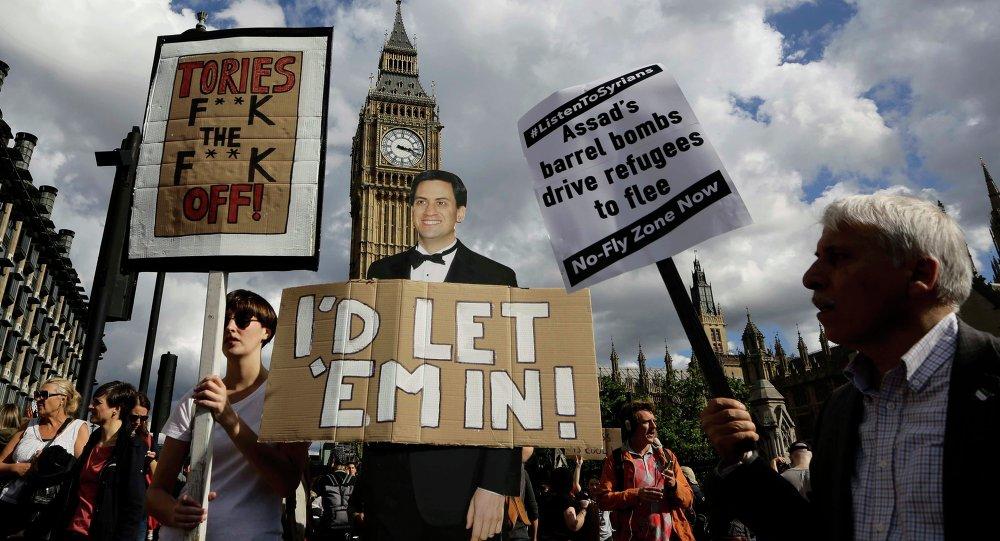 La Marche de solidarité avec les réfugiés à Londres