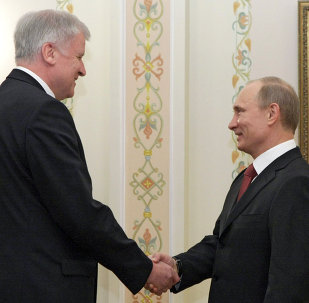 Horst Seehofer et Vladimir Poutine (archives)