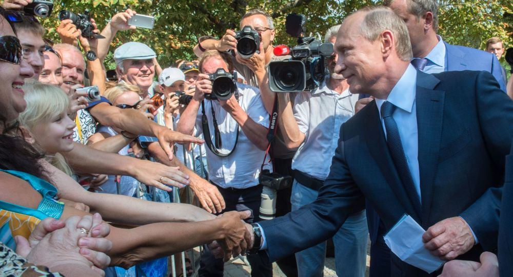 Vladimir Poutine en Crimée