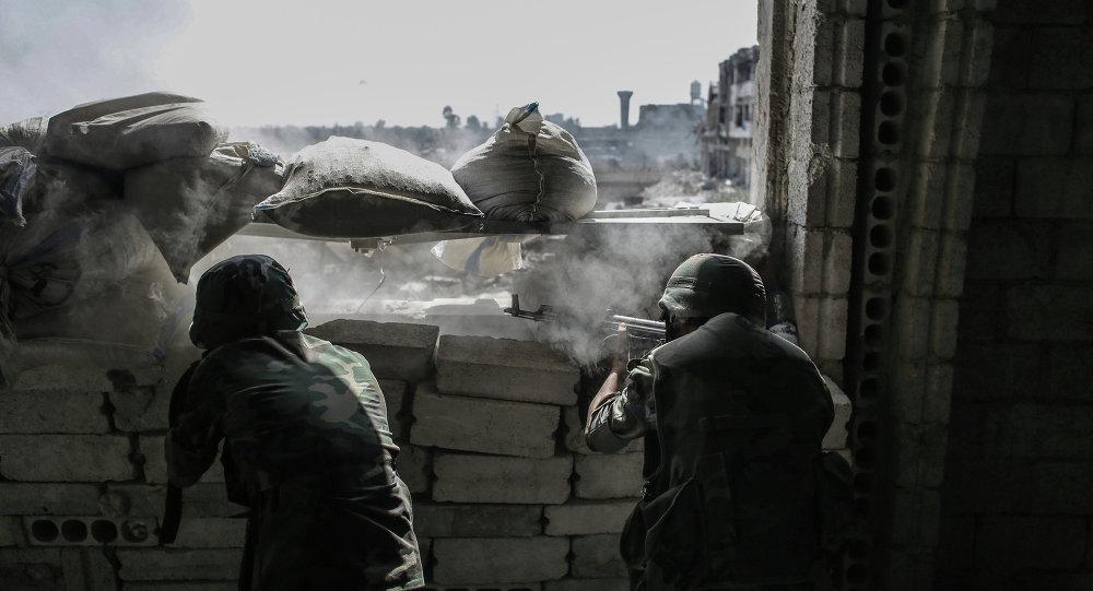 Armée syrienne dans une banlieue de Damas