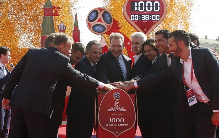 J-1000 avant la Coupe du monde de football 2018