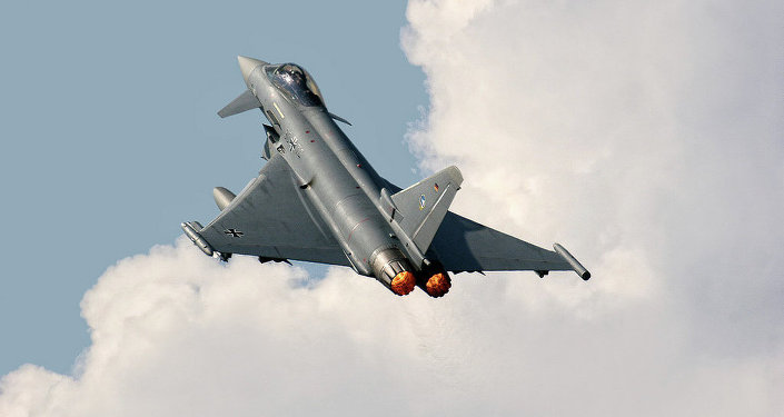 Le chasseur allemand Eurofighter