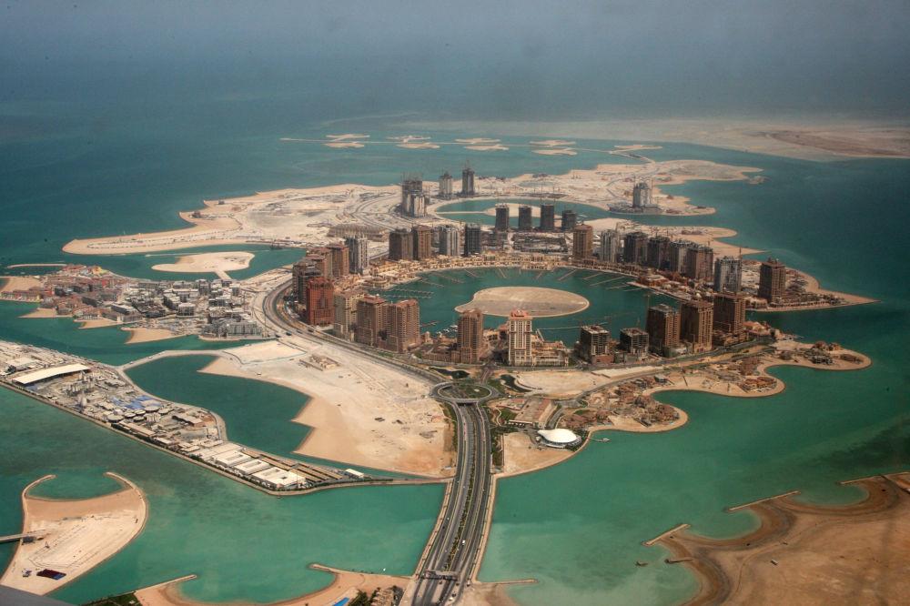 La construction du complexe résidentiel luxueux Perle du Qatar