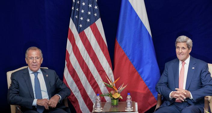 Sergueï Lavrov et John Kerry
