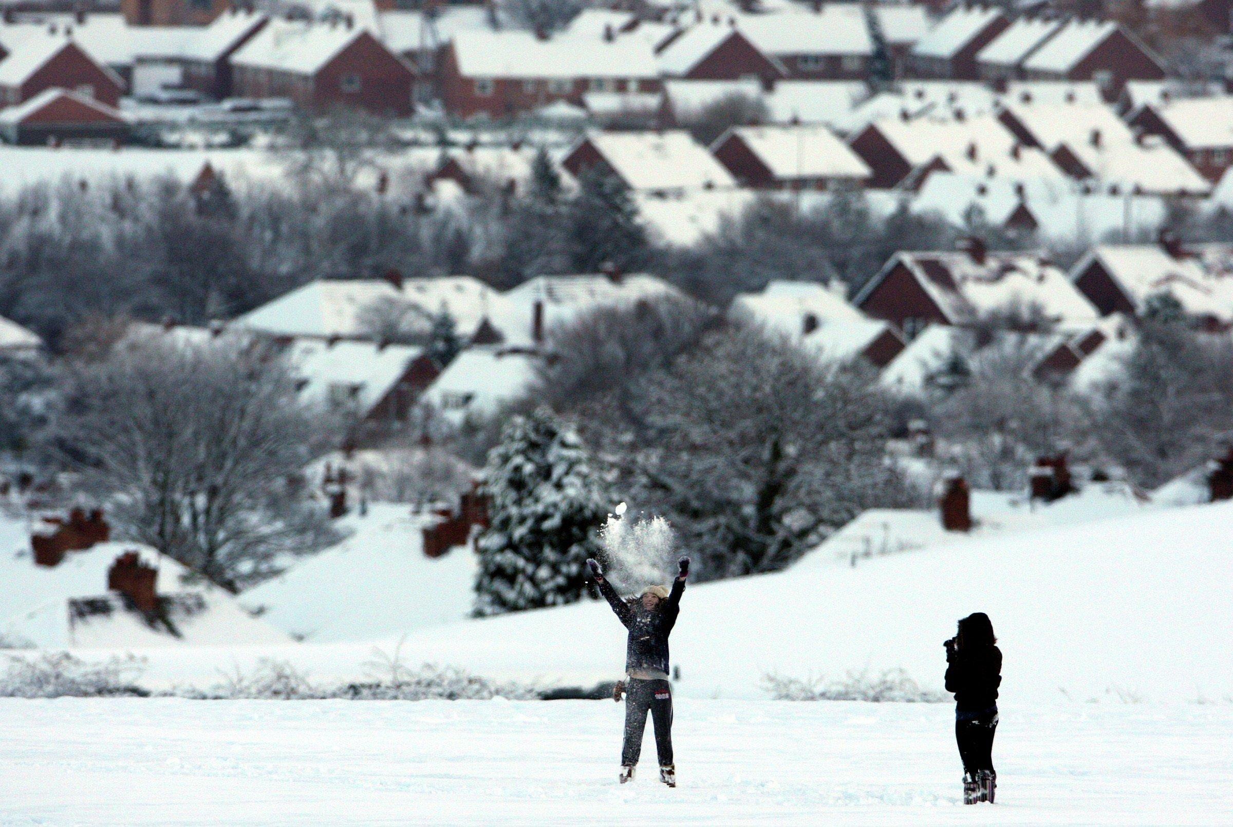La neige. Image d'illustration Image d'illustration