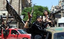 Combattants de l'organisation terroriste Front al-Nosra