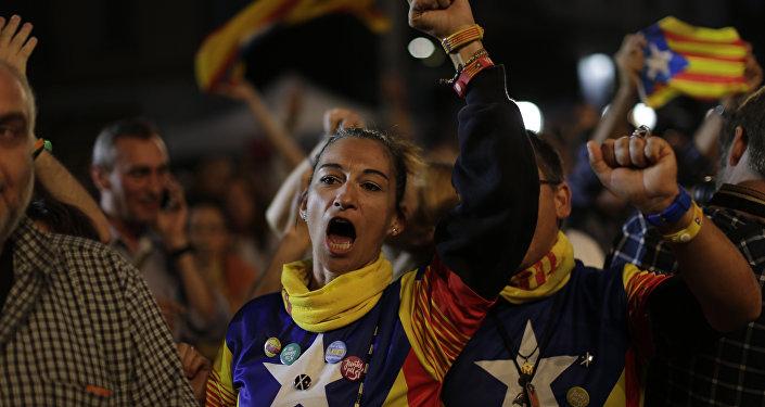 Les indépendantistes à Barcelone