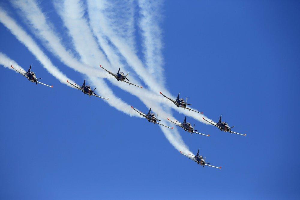 Le groupe de voltige aérienne Orlik de l'armée de l'Air polonaise