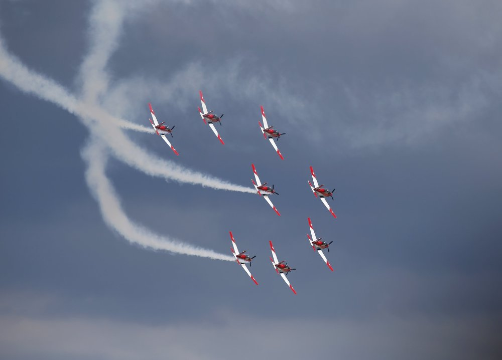 Le groupe de voltige aérienne Équipe PC-7 de l'armée de l'air suisse