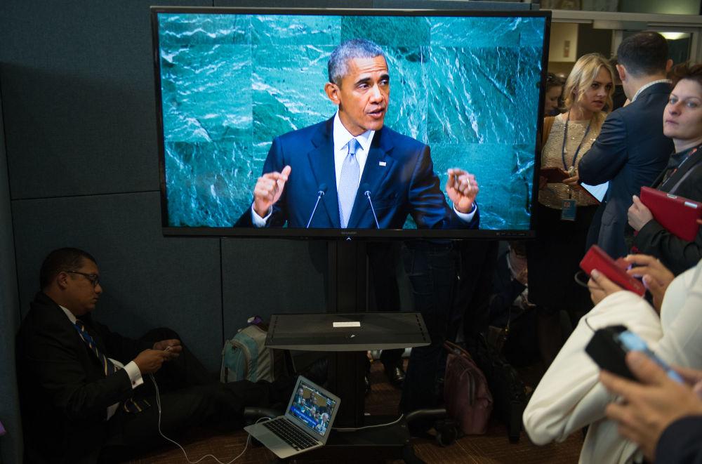 Le président américain Barack Obama à l'Assemblée générale de l'Onu