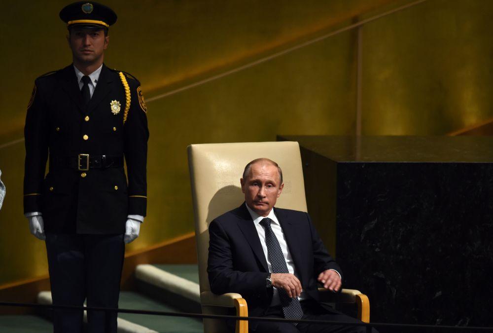 Vladimir Poutine à l'Assemblée générale de l'Onu