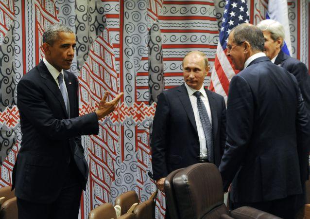 Barack Obama, Vladimir Poutine, Serguei Lavrov et John Kerry à New York