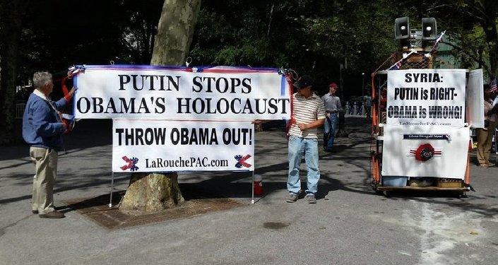 Manifestants à New York