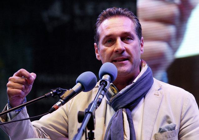 Le chef du FPÖ Heinz-Christian Strache