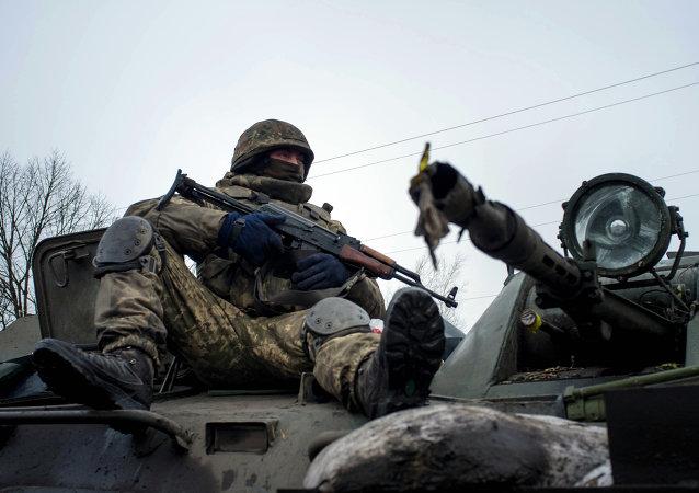 Militaire ukrainien. Image d'illustration